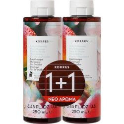 Korres Peach Blossom Shower Gel 2 x 250ml