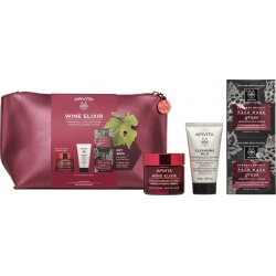 Apivita Wine Elixir Rich Texture 50ml & Δώρο Cleansing Milk 50ml & Face Mask Grape 2x8ml