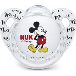 Nuk Trendline Disney MIckey Σιλικόνης White 0-6m 1τμχ