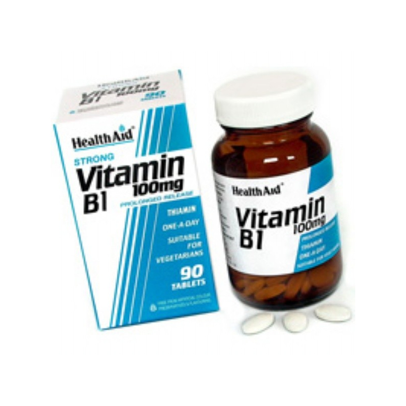 Healthaid Vitamin B1 Thiamin Hcl 100mg 90 ταμπλέτες
