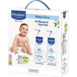 Mustela Gentle Cleansing Gel 500ml & Hydra-Bebe Body Lotion 500ml & Δώρο Αρκουδάκι