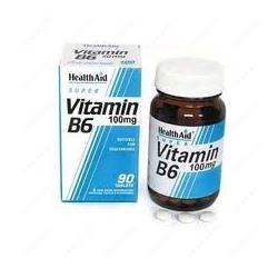 HealthAid Vitamin B6 100mg 90 Tabs