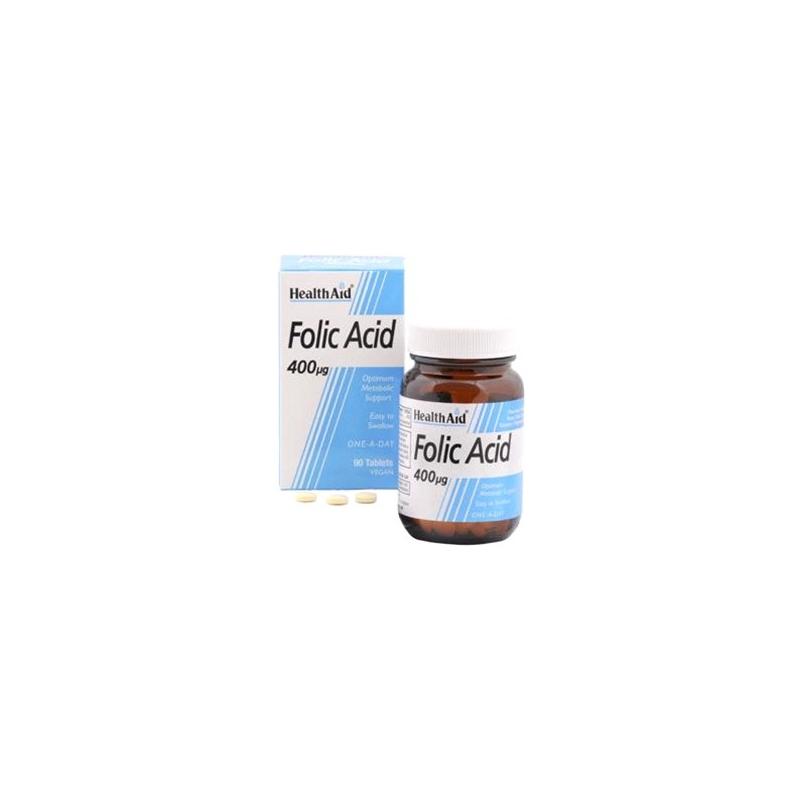 HealthAid Folic Acid 400μg 90 ταμπλέτες