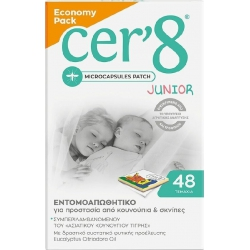 Vican Cer'8 Junior Εντομοαπωθητικά Αυτοκόλλητα 48τμχ