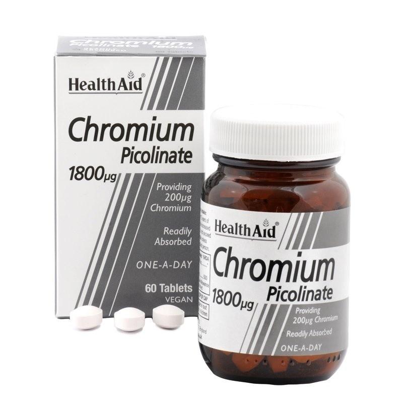 HealthAid Chromium Picolinate 1800mg 60 ταμπλέτες