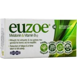 Uni-Pharma Euzoe Melatonin & Vitamin B12 30 ταμπλέτες
