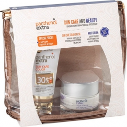 Medisei Panthenol Extra Diaphanous Sun Color Face Gel SPF30 50ml & ΔΩΡΟ Night Cream 50ml