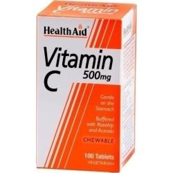 Health Aid Vitamin C 500mg Chewable 100 μασώμενα δισκία