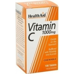 Health Aid Vitamin C 1000mg 100 μασώμενες ταμπλέτες