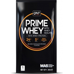 QNT Prime Whey with Whey Isolate 30gr Belgian Chocolate Brownie