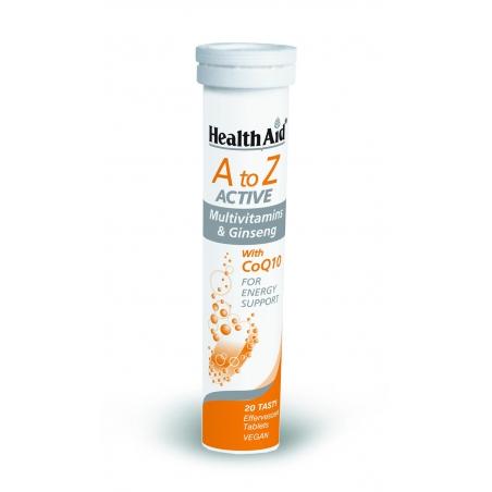 HealthAid A to Z ACTIVE Multivitamins 20 Αναβράζουσες Βιταμίνες tutti fruti