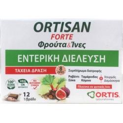 Ortis Ortisan Forte Φρούτα & Ίνες 12 Κύβοι