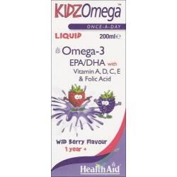Healthaid Kidz Omega Βατόμουρο Σιρόπι 200 ml