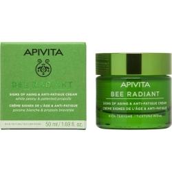 APIVITA Bee Radiant Κρέμα-Gel για Σημάδια Γήρανσης & Ξεκούραστη Όψη Πλούσιας Υφής 50ml