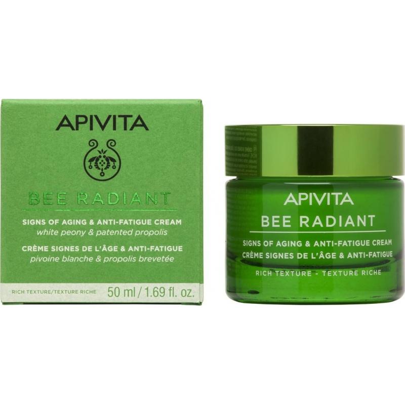 APIVITA Bee Radiant Κρέμα-Gel για Σημάδια Γήρανσης & Ξεκούραστη Όψη Ελαφριάς Υφής 50ml