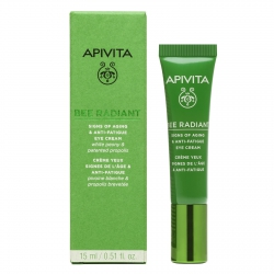 Apivita Bee Radiant Eye Cream with Peony Κρέμα Ματιών για Σημάδια Γήρανσης - Ξεκούραστη Όψη 15ml