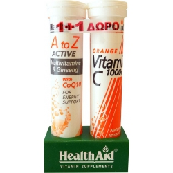 Health Aid A to Z Αctive With Q10 + Vitamin C 1000mg 40 αναβράζοντα δισκία