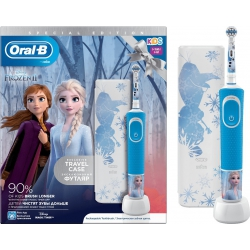 Oral-B Kids 3+ Special Edition Frozen Επαναφορτιζόμενη Ηλεκτρική Οδοντόβουρτσα & Travel Case 1 Τεμάχιο