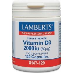 Lamberts Vitamin D3 2000iu 120 κάψουλες