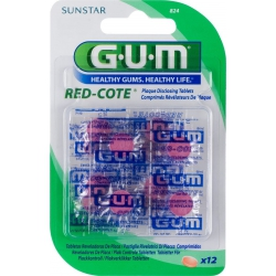 GUM 824 Red-Cote Disclosing Tablets 12 Ταμπλέτες