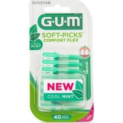 GUM 670 Soft-Picks Comfort Flex Cool Mint 40τμχ