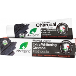 Dr.Organic Extra Whitening Charcoal Toothpaste Λευκαντική Οδοντόκρεμα με Ενεργό Άνθρακα 100ml