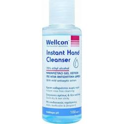 Wellcon Καθαριστικό Gel Χεριών με Ήπια Αντισηπτική Δράση 70% 100ml