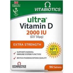 Vitabiotics Ultra Vitamin D 2000 IU D3 50mg 96 ταμπλέτες