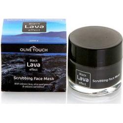Olive Touch Black Lava Scrub Face Mask Μάσκα Απολέπισης Προσώπου 50ml