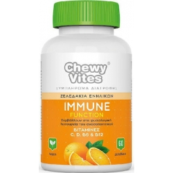 Vican Chewy Vites Adults Immune Function Vitamins C, D, B6, B12 60 μασώμενες ταμπλέτες