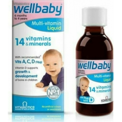 Vitabiotics Wellbaby Infant Liquid 150ml από 6 μηνών έως 4 ετών