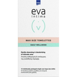 Intermed Eva Intima Maxi Size Towelettes Daily Wellness 12τμχ
