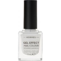 Korres Gel Effect Nail Colour 1 Blanc White