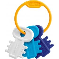 Chicco Κουδουνίστρα & Μασητικό Χρωματιστά Κλειδιά Σιέλ 3m+ 63216-10