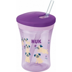 Nuk Action Cup Purple Dogs 12m+ 230ml