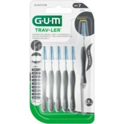 GUM 1619 Trav-ler Interdental Brush - Μεσοδόντιο Βουρτσάκι 2.6mm Γκρι 6 τμχ