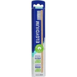 Elgydium Wooden Ξύλινη Οδοντόβουρτσα Μέτρια με Λευκές Τρίχες 1τμχ