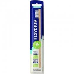 Elgydium Wooden Ξύλινη Οδοντόβουρτσα Μαλακή με Λευκές Τρίχες 1τμχ