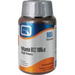 Quest Vitamin B12 1000mg 60 Ταμπλέτες