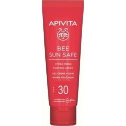 Apivita Bee Sun Safe Hydra Fresh Ενυδατική Κρέμα Gel Προσώπου SPF30, 50ml