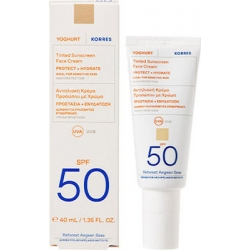Korres Yoghurt Tinted Sunscreen Face Cream SPF50 For Sensitive Skin Αντηλιακή Κρέμα Προσώπου Με Χρώμα 40ml