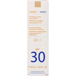 Korres Yoghurt Tinted Sunscreen Face Cream SPF30 For Sensitive Skin Αντηλιακή Κρέμα Προσώπου Με Χρώμα 40ml