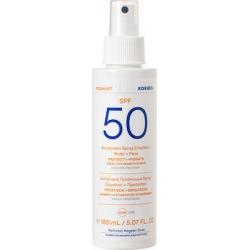 Korres Yoghurt Sunscreen Spray Emulsion Face + Body SPF50 For Sensitive Skin Αντηλιακό Γαλάκτωμα Spray Σώματος + Προσώπου 150ml