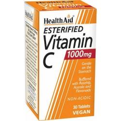Health Aid Esterified Vitamin C Balanced & Non-Acidic 1000mg 30 tab