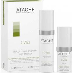 Atache C Vital Set Active Serum Αντιρυτιδικός Ορός 15ml & Active Fluid 30ml