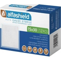 Karabinis Medical Alfashield Alfa Gauze Sterile 15x30cm 12τμχ