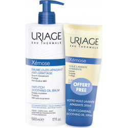 Uriage Xemose Anti-Ich Soothing Oil Balm 500ml & Δώρο Cleansing Soothing Oil 200ml