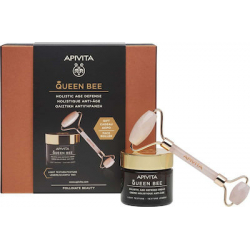 Apivita Queen Bee Light Texture Day Cream 50ml & Premium Face Roller