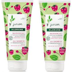 Klorane Junior Gel Douche Framboise 2 in 1 2x200ml