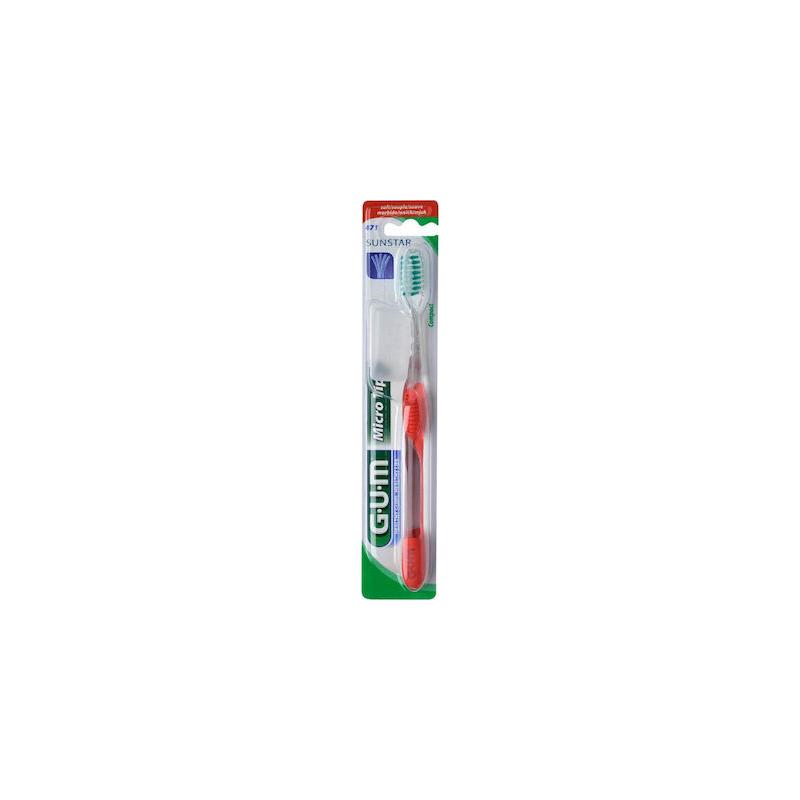 GUM 471 Micro Tip Compact Soft κοκκινη 1τμχ